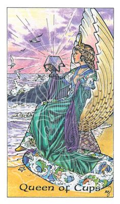 Queen of Cups (Robin Wood Tarot)