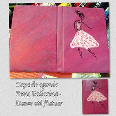 Capa de agenda  Tema Bailarina - Dance até flutuar
