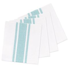 Picture of Aqua Center Striped Dish Cloth - 4 Pack