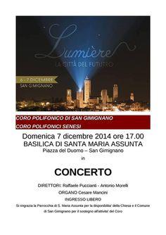 Domani concerto del Coro Polifonico di San Gimignano e del Coro Polifonici Senesi https://www.facebook.com/baccano.san.gimignano/photos/a.756053444450496.1073741828.756028791119628/757461820976325/?type=1&theater #sangimignano