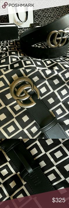 GUCCI GG BELT!!! Gucci GG Belt W/ Antique Silver Double G Buckle!!!  Brand New!!!  Unisex...For Man Or Woman!!!  Size Available - 34, 36, 38, 40, 42, 44!!!  Includes Gucci Belt, Gift Box, Dust Bag, Ribbon, Etc!!!  Great Gift Idea!!!  Last Available!!!  Check My Listings For Other Great Items!!!             Ignore: Gucci gg monogram casual dress belts men's women's guccissma leather monogram web tiger bee embossed panther wool cable knit blooms supreme print angry cat ufo dragon studded snake…