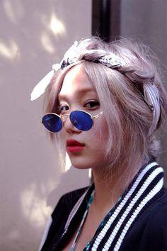 Smile Girl Korea, Korea Fashion, Korean Girl, Asian Beauty, Boho Chic, Mirrored Sunglasses, Natural Hair Styles, Hair Beauty, Model