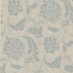 """Brewster Home Fashions Serene Affabre Jacobean 33' x 20.5"""" Floral and Botanical 3D Embossed Wallpaper Color:"""