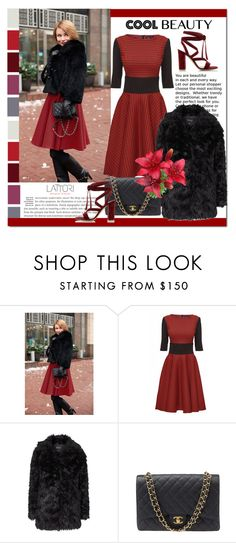 """""""Lattori Dress #28"""" by cherry-bh ❤ liked on Polyvore featuring Lattori, Topshop, Chanel, Gianvito Rossi, women's clothing, women, female, woman, misses and juniors"""