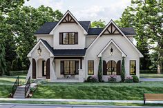 Modern Cottage Style, Cottage Style House Plans, Cottage Style Homes, Cottage House Plans, French Country House, Cottage House Designs, French Country Exterior, Best House Plans, Home Plans