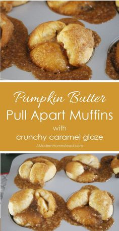 Pull apart muffins filled with pumpkin butter and finished off with a crunchy…