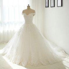 Off Shoulder Beautiful New Lace Wedding Dress 2017 http://fancytemplestore.com