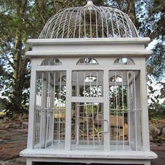 Large birdcage shabby chic bird cage by KarensChicNShabby on Etsy
