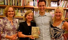 All smiles at reading of MONA LISA at Mrs. Dalloway's in Berkeley