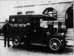 Vancouver Police patrol van, year unknown Police Patrol, Historical Pictures, History Facts, Old Pictures, British Columbia, Vancouver, Antique Cars, Canada, Vintage