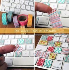 Fajny pomysł na ozdobienie klawiatury :3