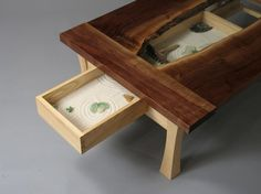 Zen Garden Coffee Table By Rob Palmer A Woodworking Student At Burlington College It S