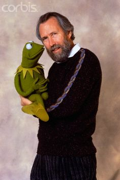 Jim Henson and Kermit.  I met Jim just 3 months before he died.  What a kind and down to earth man!  I had my picture taken with him!