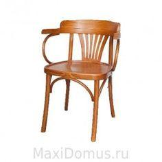 Деревянное венское кресло Классик с жестким сидением, ТОН+ЛАК