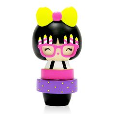 Birthday Girl <P>Momiji are handpainted resin message dolls. Turn them upside down...inside every one there's a tiny folded card for your own secret message. </P><P>Spread the love.</P><P>All dolls�are approx 8cm (3in) tall.</P>