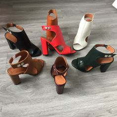 Bambi, Summer Heels, Block Heel Shoes, Pumps, Beige, Chunky Heels, Black Sandals, Open Toe, Sexy