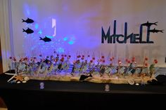 Fishing Themed Bar Mitzvah Place card Table Display Party Perfect, Boca Raton, FL 1(561)994-8833
