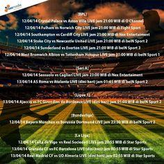 NexFriends jadwal pertandingan LIVE di Nexmedia malem ini (12/04/14-13/04/14) :