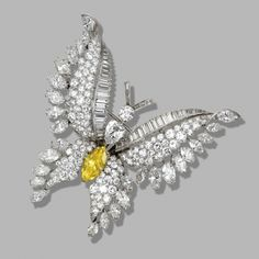 Diamond butterfly brooch, Bulgari