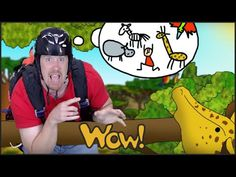 Let's go on safari and see animals with Steve and Maggie! What animals can you see? Can you describe them? Can you name all the animals Steve sees. Time For Africa, Kids English, Presents For Kids, Free Youtube, Stories For Kids, Teaching English, Letting Go, Safari, Kindergarten