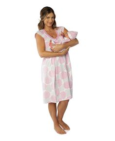 Lilly maternity nursing nightgown matching baby going home outfit – Baby Be  Mine- color- Lilly 78070ea80