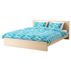 MALIN BLAD Duvet cover and pillowcase(s), turquoise