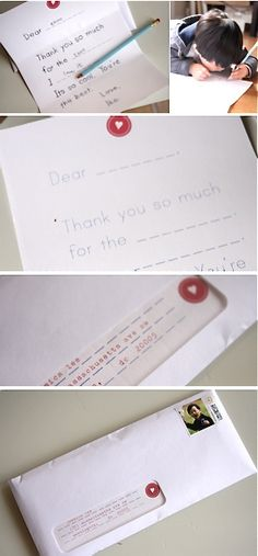 kid thank you notes
