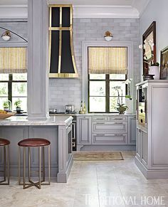 grey and brass in the kitchen.. – Greige Design