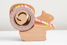 ハンドメイドマーケット minne(ミンネ)| 木で切るテープカッター☆リスタイプ(マスキングテープサイズ)