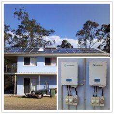 Location:Australia Power Output: 11kW 2 Trannergy PVI5400TL; Monitoring System: Pvoutput;