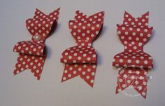 SU Paper Bows photo tutorial using the X-large oval punch