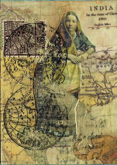 Indian collage by Nick Bantock Mail Art, Art Indien, Decoupage, Foto Transfer, Mixed Media Collage, Poster, Art Journals, Altered Art, Printmaking