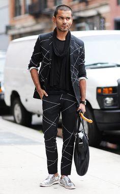 timeless design e0bd9 e0d64 Jorge Rios from Men s Fashion Week Street Style