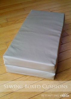 Doll bed mattress tutorial - but I could use this same tutorial to make the cushion for my bench seat...