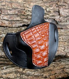 Custom Leather Holster for S/W M & P Crocodile by TinBadgeLeather, $89.00