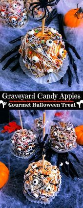 Graveyard Candy Apples - Halloween Candy Apples