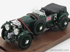 BRUMM R114-OLD Scale 1/43  BENTLEY SPEED SIX 4.5 LITRE CON COMPRESSORE N 8 24h…