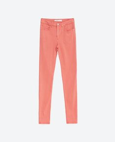 Image 6 of SKINNY MID-RISE TROUSERS from Zara