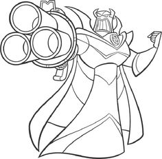 toy story coloring pages zurg - Buzz Lightyear Coloring Pages Free