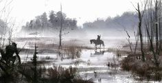 just another day at work..., Jakub Rozalski on ArtStation at http://www.artstation.com/artwork/just-another-day-at-work