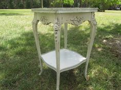 Shabby chic side table, nightstand ,vintage side table, end table,table…