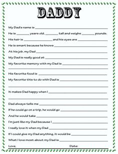 FREE All about my Dad printable questionnaire and 37 other Father's Day gift ideas that Dad is sure to love! Father's Day gift ideas Diy Father's Day Gifts, Father's Day Diy, Daddy Gifts, Gifts For Dad, Fathers Day Presents, Parent Gifts, Birthday Present Dad, Fathers Day Questionnaire, Just In Case