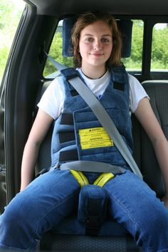 1 >>> NEW >>> Hip-Cast Seat >> Wallenberg Roosevelt Churchill Churchill NOW available with Positioning Harness & our Escape Proof products:the Chest Clip Guard & Buckle Guard. Pediatric Physical Therapy, Adaptive Equipment, Car Bed, Sensory Issues, Onesie Pajamas, Straight Jacket, Special Needs, What I Wore, Special Needs Children