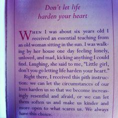 Wonderful advice from Pema Chodron.
