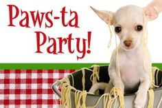 Paws-ta Party! fundraiser for animal shelter idea