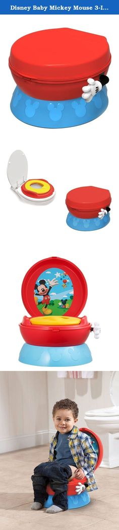 Disney Baby Mickey Mouse 3-In-1 Celebration Potty. ** The First Years Disney Baby Mickey Mouse 3-In-1 Celebration Potty ** ITEM DESCRIPTION Color: Mickey Mouse When you're ready to potty train, make sure there's a mouse in your house! The Disney Baby Mickey Mouse 3-in-1 Celebration Potty System offers positive reinforcement with a hip-hip-hooray from the pretend flush handle. Who wouldn't want to shake Mickey's hand? This colorful system grows with your child, starting as a standalone…