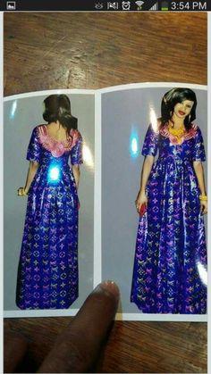 Simple vip african bazin8n dress