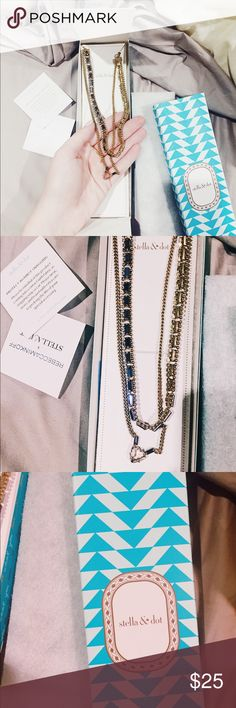 Dark Blue Stella and Dot Necklace 🌌🦋💙 A stunning dark blue double necklace from the brand Stella and Dot 💙🌟🦋🎉🌌 never worn and still has original packaging and tag Stella & Dot Jewelry Necklaces