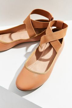fb75e22f4c7aa Shop Kimchi Blue Elastic Cross-Strap Flat at Urban Outfitters today. We  carry all