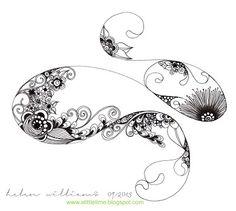 absolute favorite zentangle artist!.. Helen Williams http://www.alittlelime.blogspot.com.au/2013/09/the-endagain.html